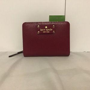 KATE SPADE Wellesley Cara Leather Wallet Red